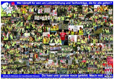Plakat Handel Hessen Streik