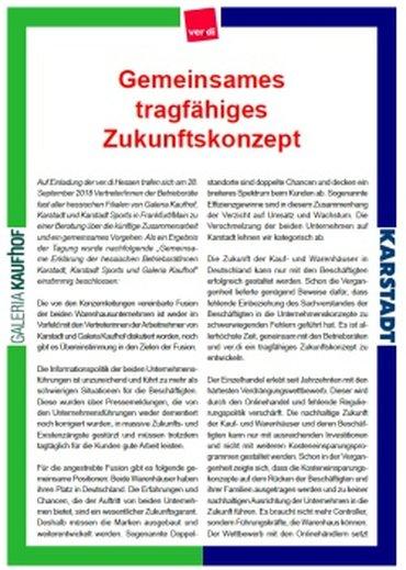 Karstadt-Kaufhof Oktober 2018