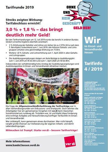 Tarifinfo EH-Hessen Abschluss 2019