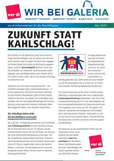 Galeria Karstadt Kaufhof 19. Mai 2020