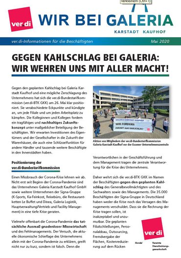 Galeria Karstadt Kaufhof 27. Mai 2020